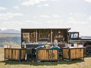Rustic Wood Outdoor Bar at Golden Ledge in Telluride, Colorado