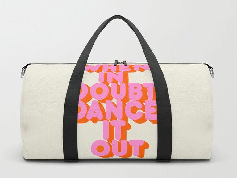 slogan gym bag