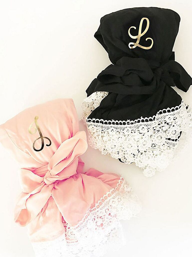 Monogrammed bridesmaid robes