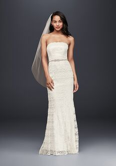 David's Bridal Galina Style VW9340 Sheath Wedding Dress