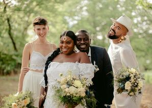 Wedding Party Portraits at Prospect Park in Brooklyn