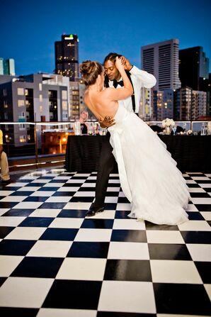 Classic Black-and-White Wedding Dance Floor