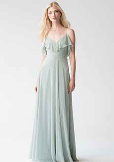 Jenny Yoo Collection (Maids) Mila {Morning Mist} #1785 Off the Shoulder Bridesmaid Dress