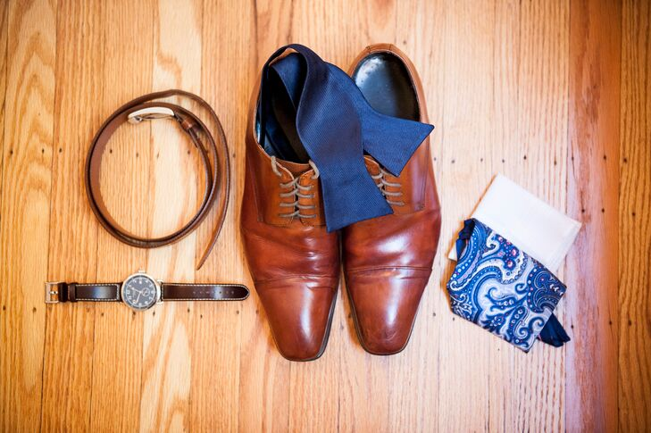Men Accessories, Navy and Brown