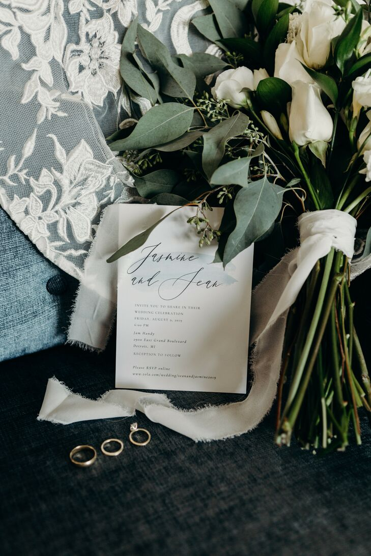 Invitation for Urban Warehouse Wedding in Detroit, Michigan