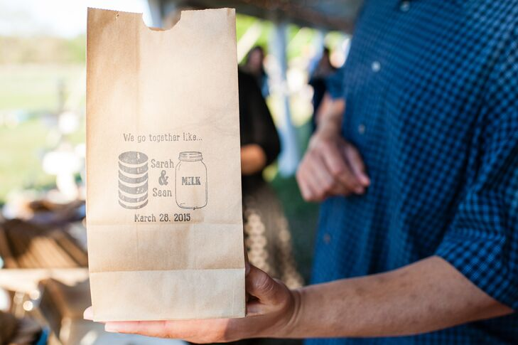 Cookies and Milk Wedding Favor Bag