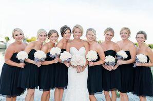Black Chiffon Bridesmaid Dresses