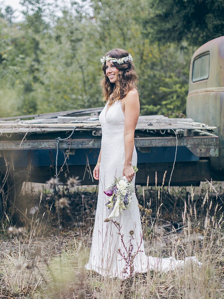 Nicole Miller bridal gown