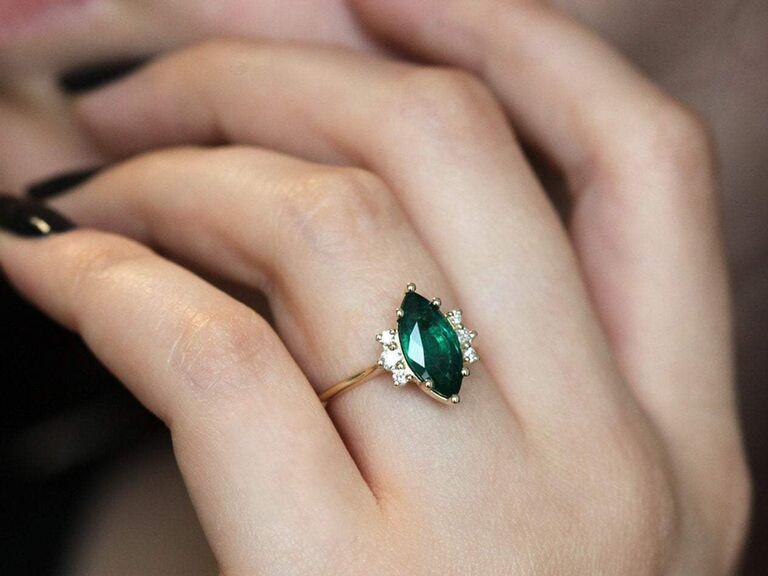 Emerald alternative engagement ring
