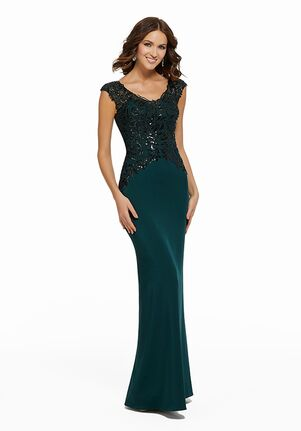 MGNY 72014 Green,Blue Mother Of The Bride Dress