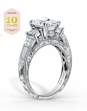 Kirk Kara Classic Emerald Cut Engagement Ring