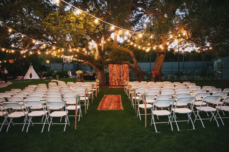 DIY Vintage Backyard Ceremony in Newhall, California