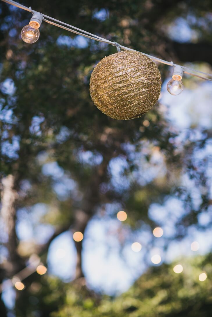 Gold Paper Lantern and String Light Ambience