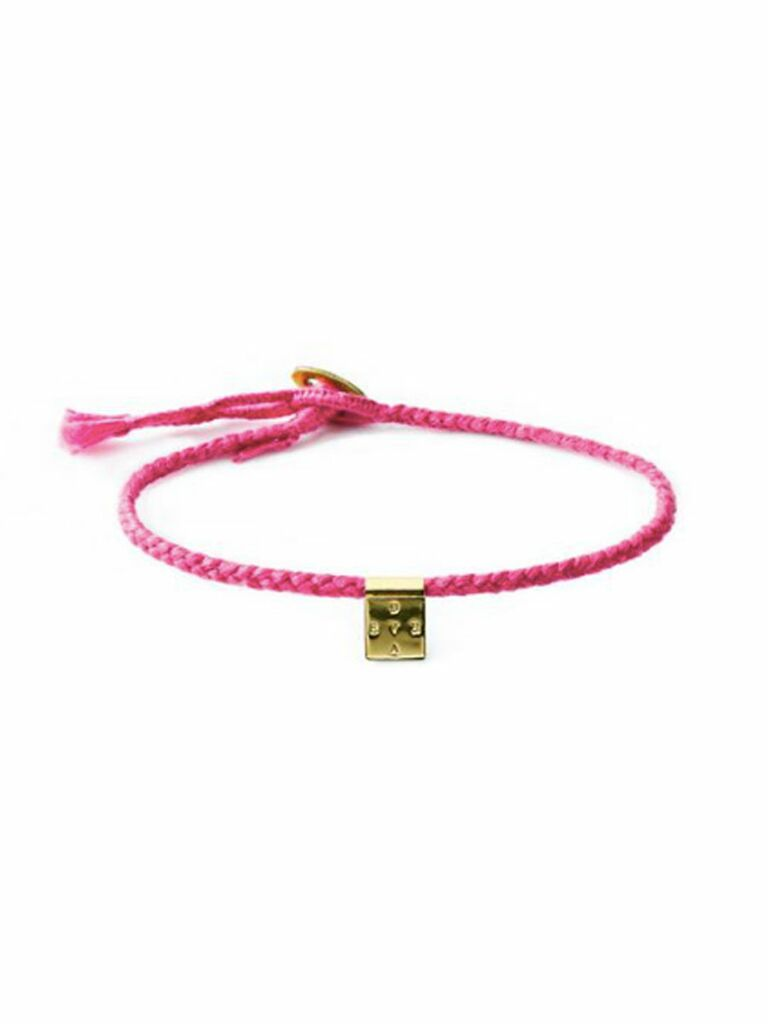 The Brave Collection limited-edition Pink Breast Cancer Awareness Brave bracelet,