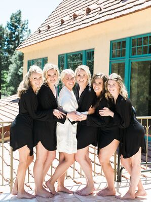 Black Bridesmaid Dressing Gowns