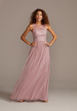 David's Bridal Collection David's Bridal Style F20122 Illusion Bridesmaid Dress