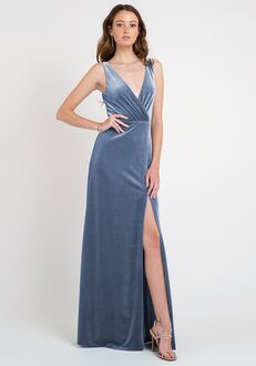 Jenny Yoo Collection (Maids) Devon V-Neck Bridesmaid Dress