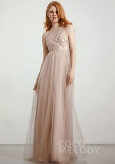 CocoMelody Bridesmaid Dresses RB0349 One Shoulder Bridesmaid Dress