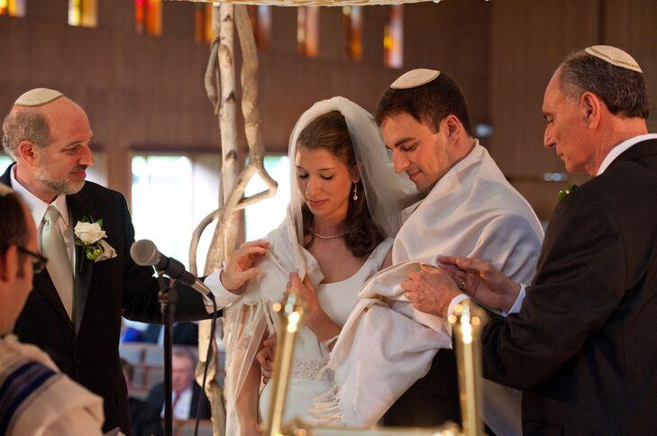 Bride, Groom Jewish Wedding Ceremony