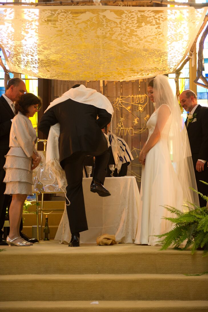 Breaking the Glass at Jewish Wedding Ceremony