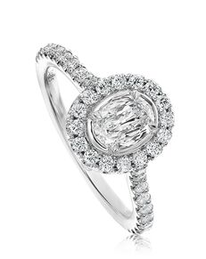 Christopher Designs Elegant Oval Cut Engagement Ring