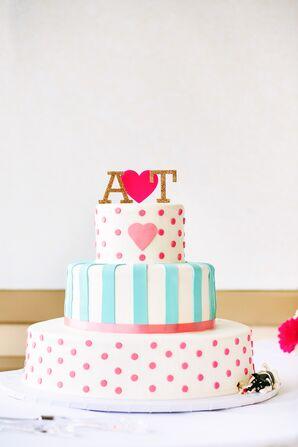 Whimsical Patterned Wedding Cake