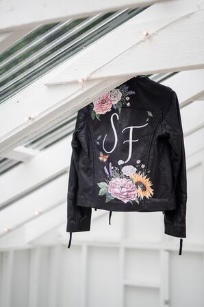 Custom Hand-Painted Leather Jacket