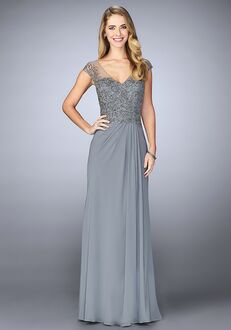 La Femme Evening 23316 Grey Mother Of The Bride Dress