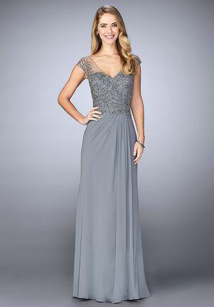 La Femme Evening 23316 Grey Mother Of The Bride Dress