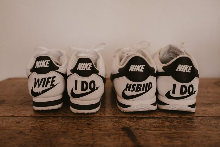 Personalized Nike Sneakers for Bride and Groom