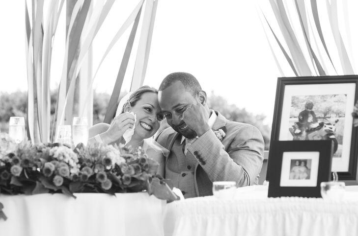 Newlyweds at Bright Summer Reception