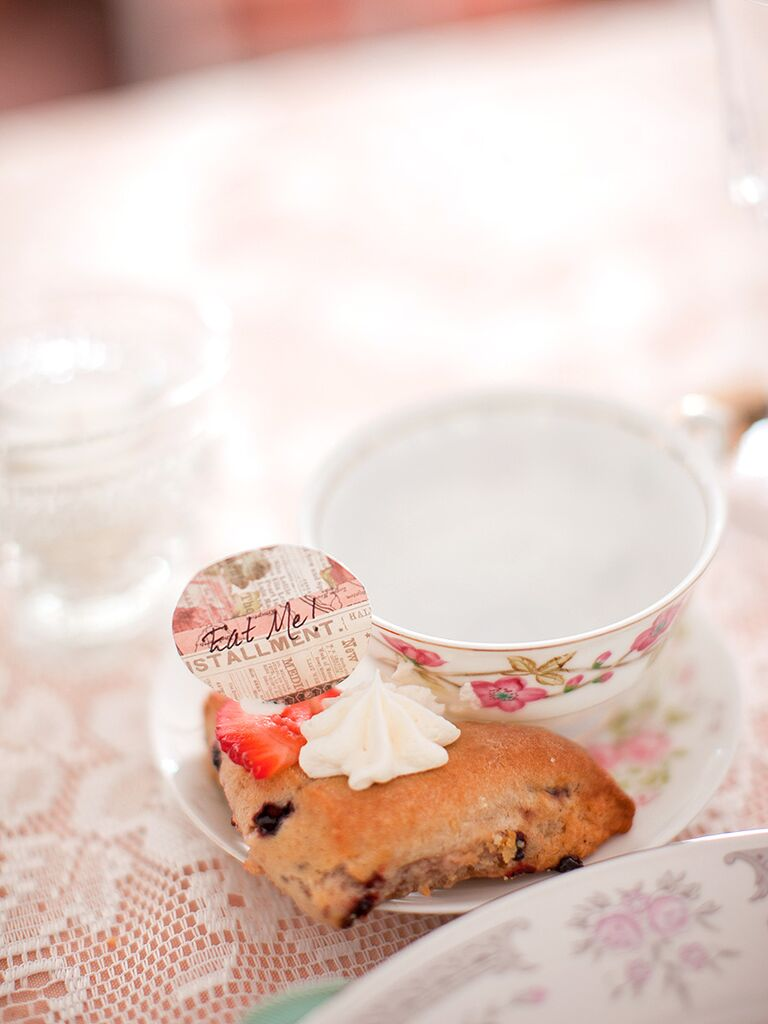 Tea and scone idea for a wedding brunch
