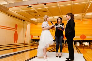 Casual, Modern Wedding at Bowling Alley
