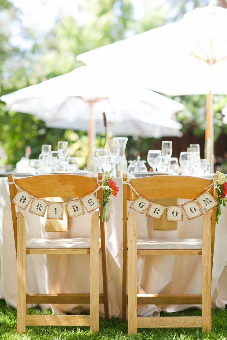 Bride and Groom Seating Decor