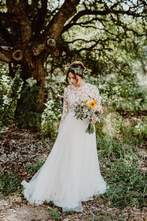 Lace Long-Sleeve Wedding Gown