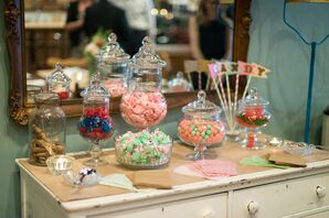 A Colorful, Whimsical Candy Table at Lovely Bake Shop
