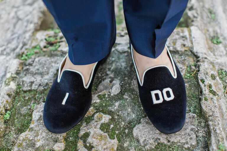 Velvet loafers winter wedding trend