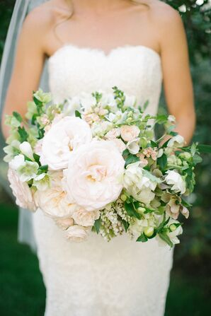 Rose, Lily of the Valley Lush Bridal Bouquet