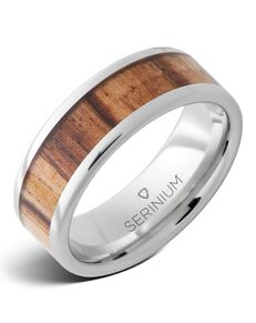 Serinium® Collection Veldt — Zebrawood Inlay Serinium® Ring-RMSA002926 Serinium® Wedding Ring