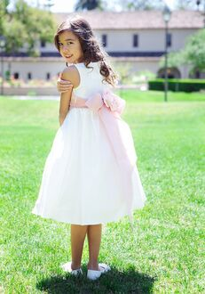 Kid's Dream 204 White Flower Girl Dress