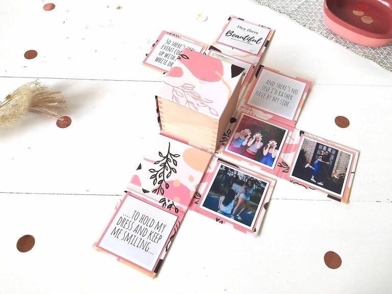 bridesmaid proposal box magnet with photos