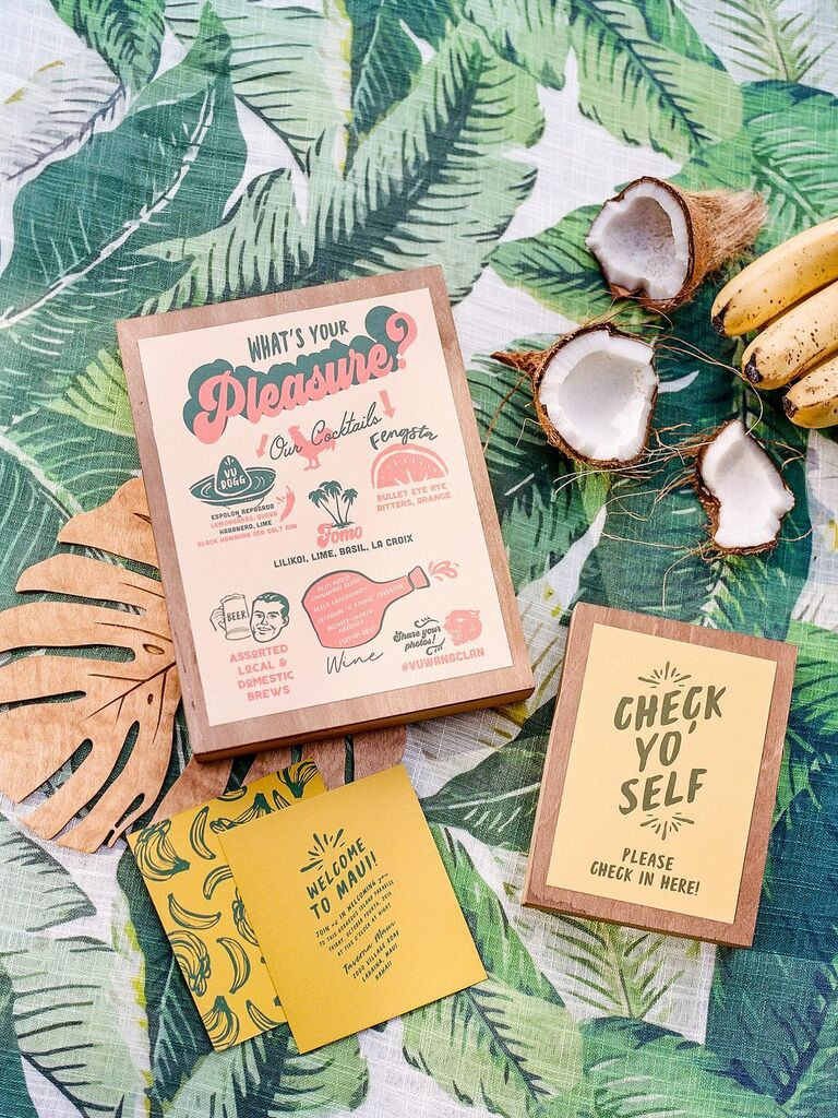 how to choose wedding stationery design tropical