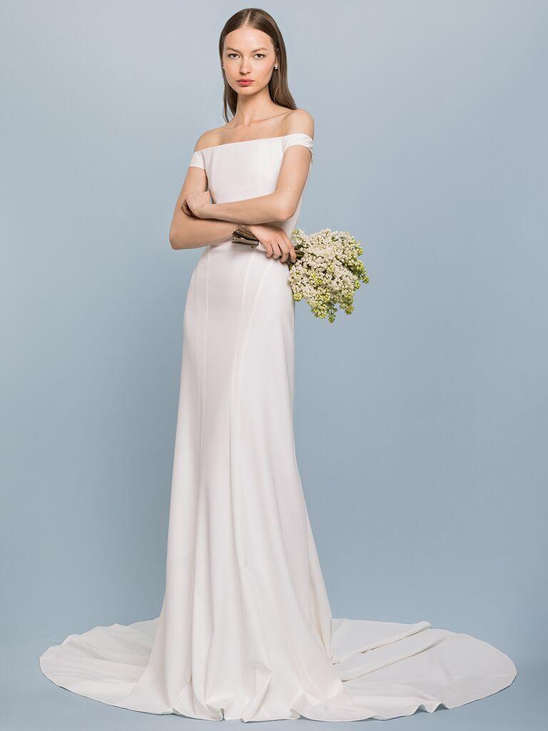 EDEM Demi Couture off-the-shoulder sheath dress