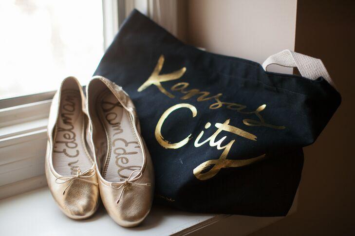 3774dd97c Gold Sam Edelman Wedding Flats