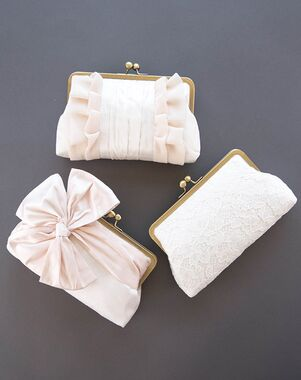 Davie Chiyo Clutch Collection Blush Ivory Set Pink Clutches