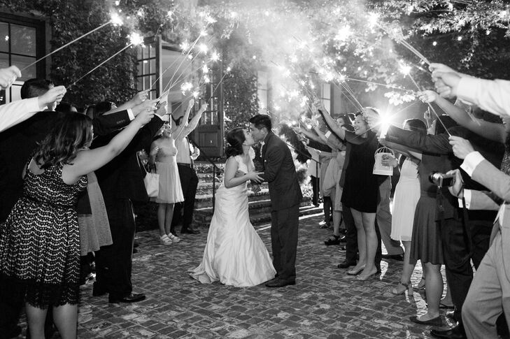 Despite having trouble finding the right kind of sparklers, the couple's coordinator pulled off the grand finale. The couple left their wedding and honeymooned in Montreal and Quebec.
