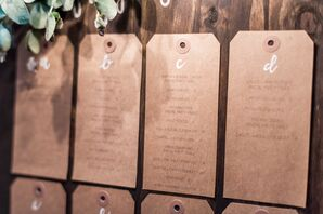 DIY Kraft Paper Gift Tag Seating Charts