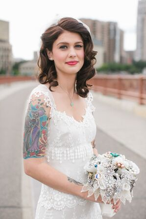 Vintage-Inspired Bridal Hair and Makeup
