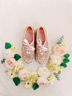 Sparkly Pink Bridal Sneakers