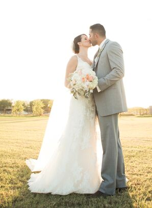 Light Gray Groom's Suit With Baby's Breath Boutonniere